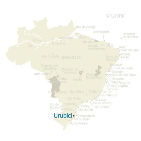 MAP Brasilien Karte mit Urubici