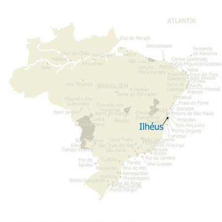 MAP Brasilien Karte Ilheus