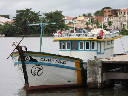Boot im Hafen von Barreirinhas