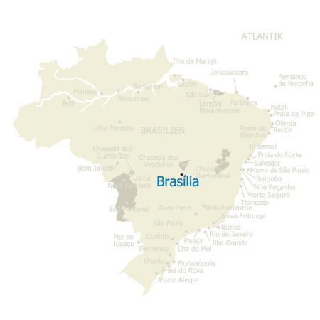 MAP Brasilien Karte Brasilia