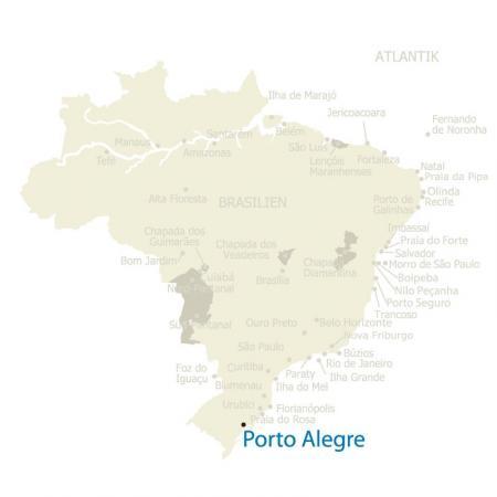 MAP Brasilien Karte Porto Alegre