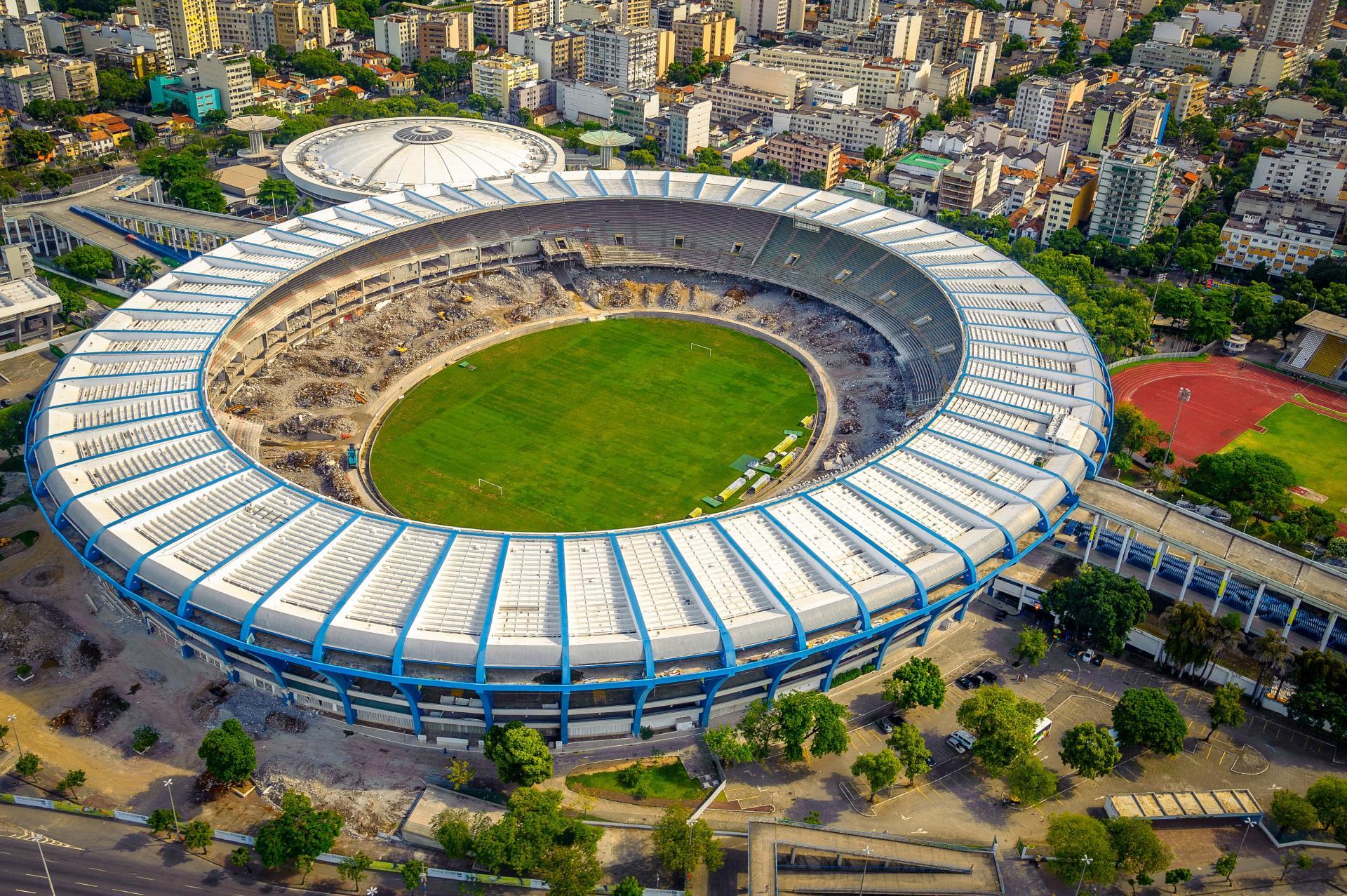Tagestour Vogelperspektive Maracana-Stadion und Neuer Hafen