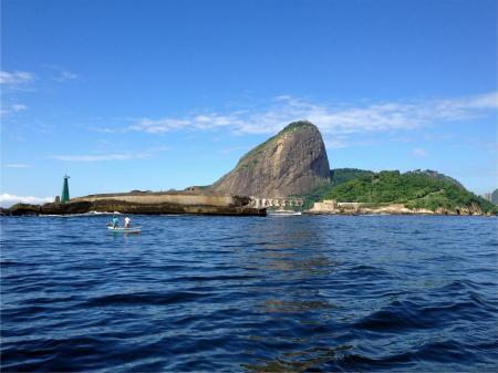 Bootsfahrt Guanabara Bucht Blick auf Festung Lage und Zuckerhut