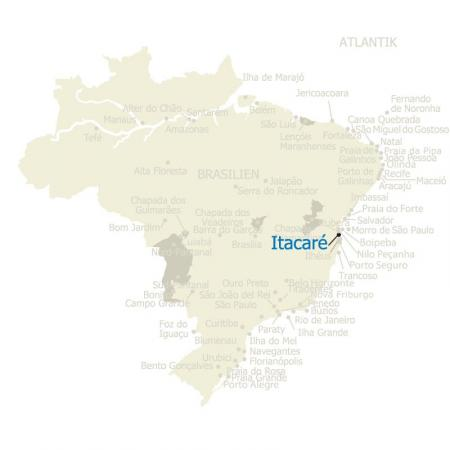 MAP Brasilien Karte Itacare