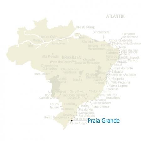 MAP Praia Grande Brasilien Karte
