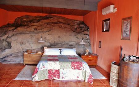 Doppelzimmer der landestypischen Unterkunft Pousada Borghetto Sant Anna