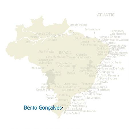 Karte von Bento Goncalves und Brasilien
