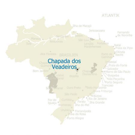 MAP Chapada dos Veadeiros Brasilien Karte