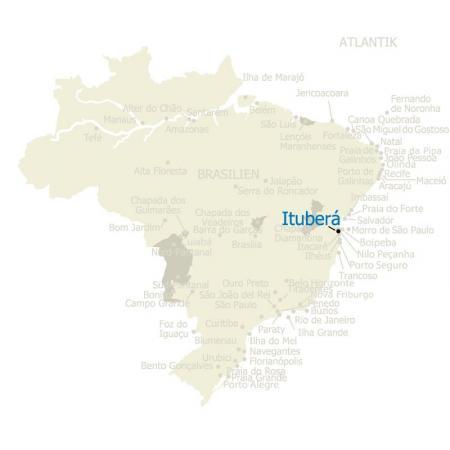 MAP Brasilien Karte Itubera