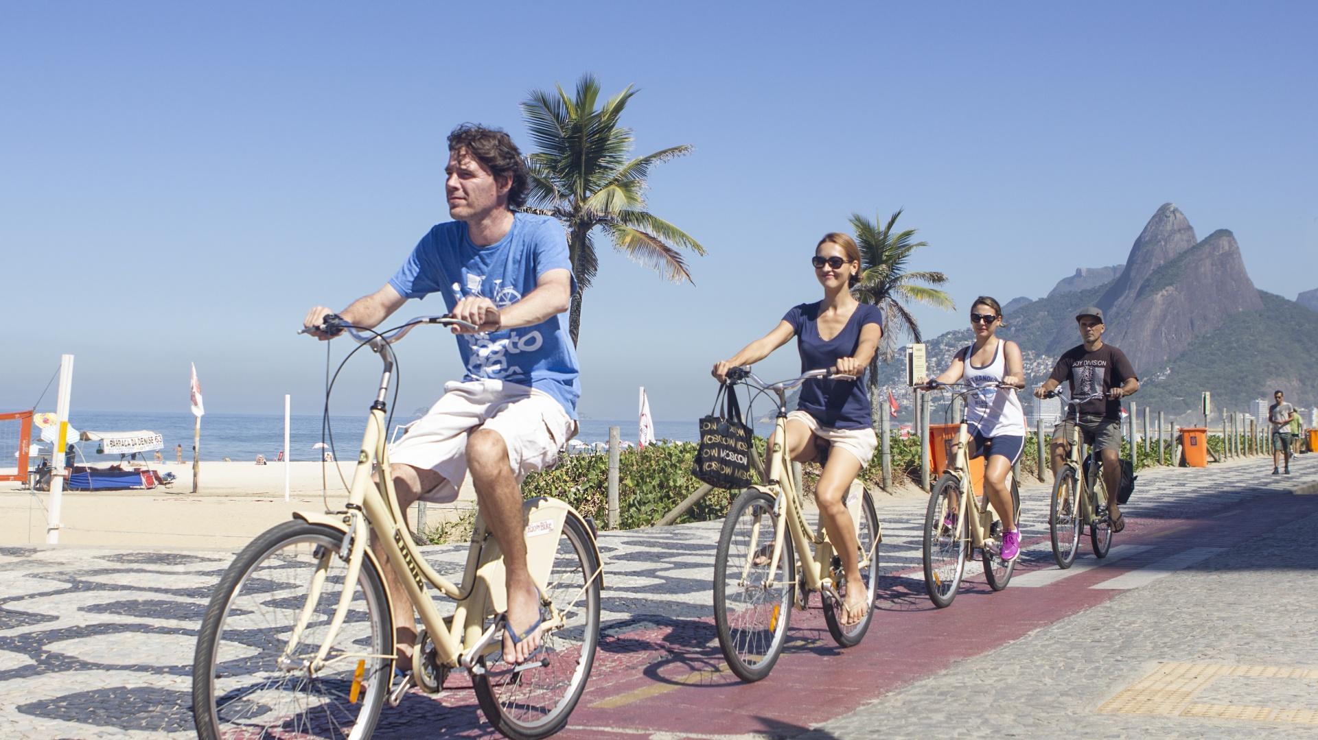 Stopp während Bike-Tour in Rio