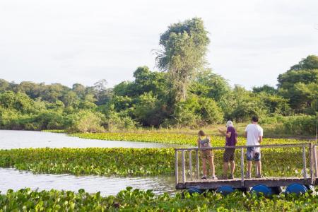 Aussichtsplattform am Wasser Pousada Aguapé