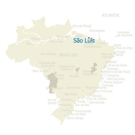 MAP Brasilien Karte Sao Luis