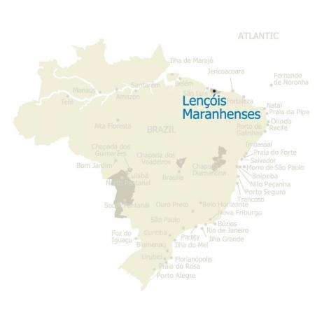 MAP Lencois Maranhenses Brasilien