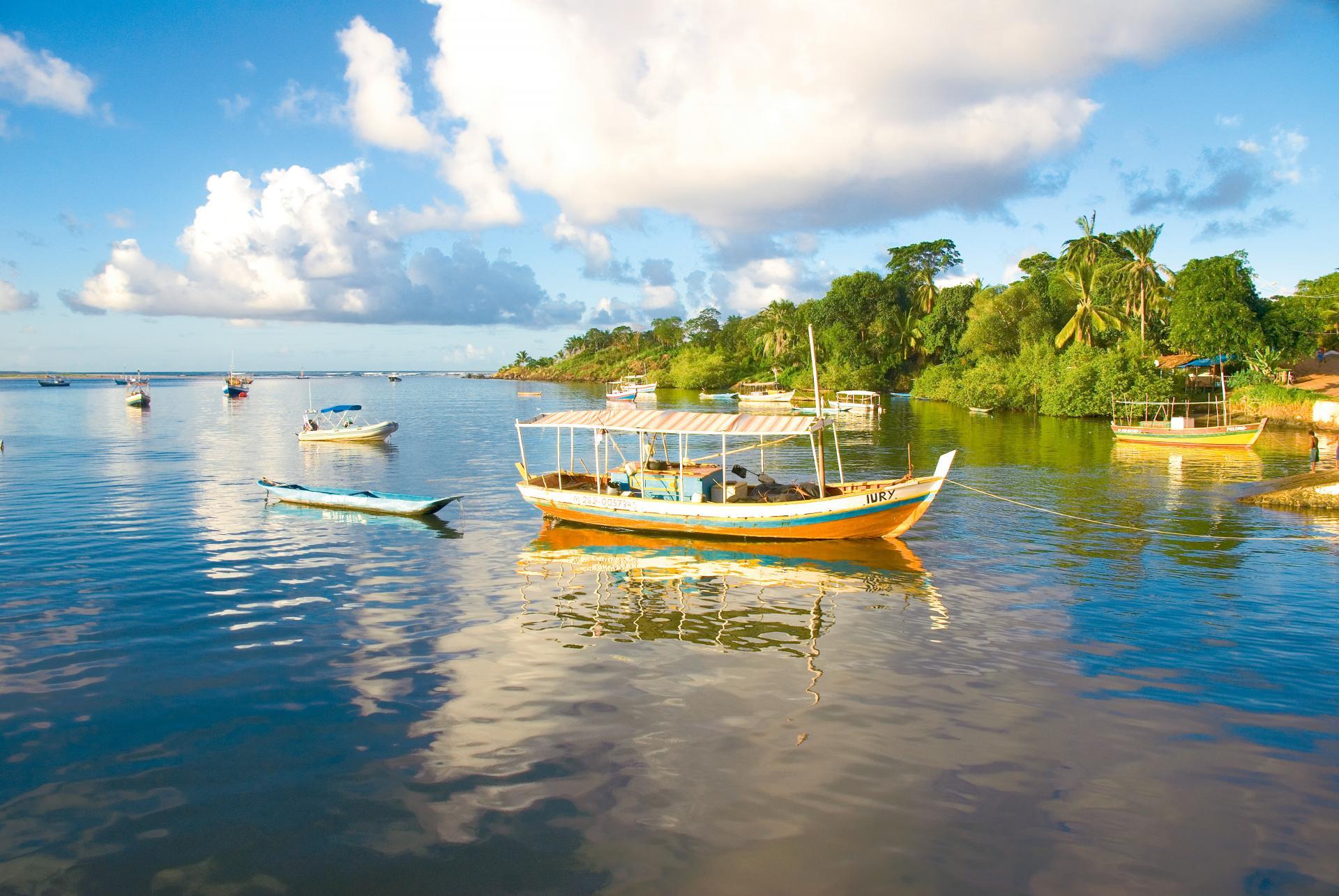 Fischerboote in Itacare