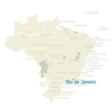 MAP Rio de Janeiro in Brasilien