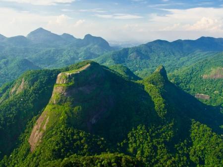 Grüne Berge Tijuca Nationalpark