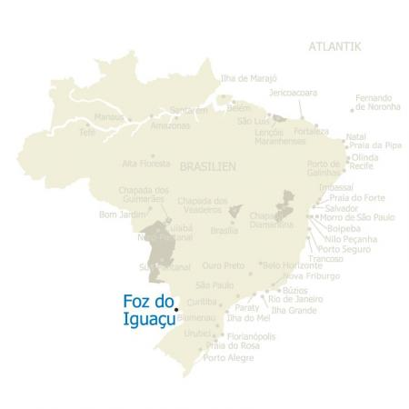 MAP Brasilien Karte Foz do Iguacu