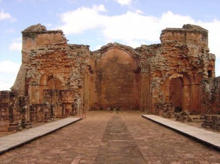 Innenhof Ruinen der jesuitischen Mission