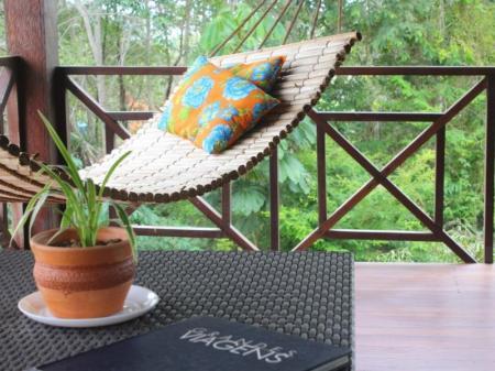 Entspannung pur in der Hängematte Villa Aruma
