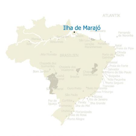 MAP Brasilien Ilha do Marajo