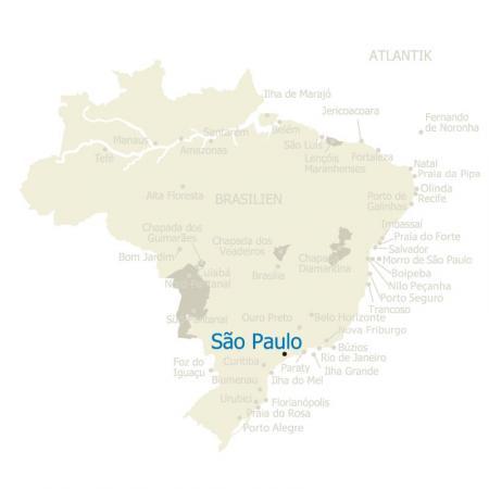 MAP Brasilien Sao Paulo