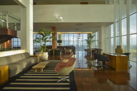 Lobby des Hotel Luzeiros in Sao Luis do Maranhao