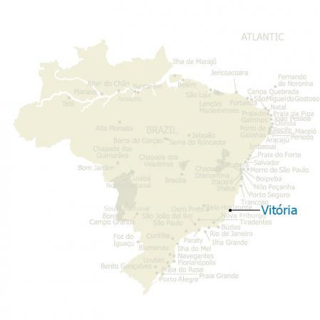 Karte von Vitoria und Brasilien