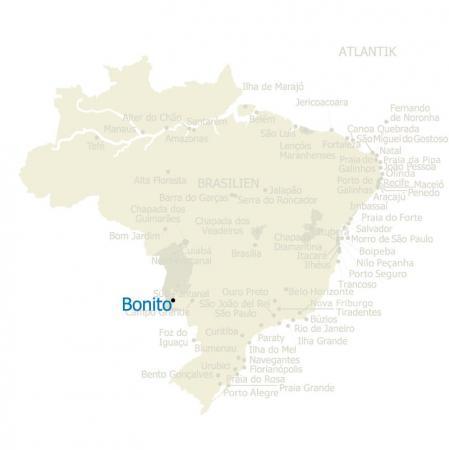 Karte von Bonito und Brasilien