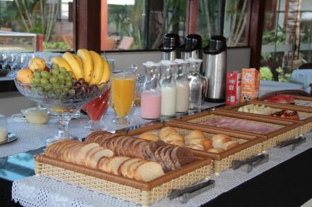 Ein nahrhaftes Frühstück in der Pousada Surucua