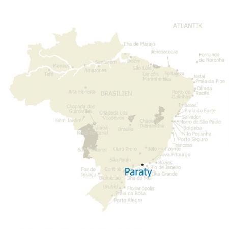 Brasilien Karte mit Paraty