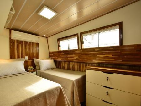 Kabine mit 2 Einzelbetten