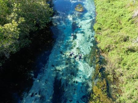 Luftaufnahme vom Rio Sucuri in Bonito